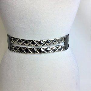 EXPRESS silver metal design strich fasten back